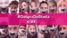 """#DołączDoStada K.I.D.S. – gwiazdy zakładają maseczki """"wilka"""",by wspierać lekarzy"""
