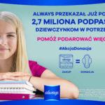 Pomóż podarować więcej w ramach drugiej edycji kampanii Always #AKCJADONACJA