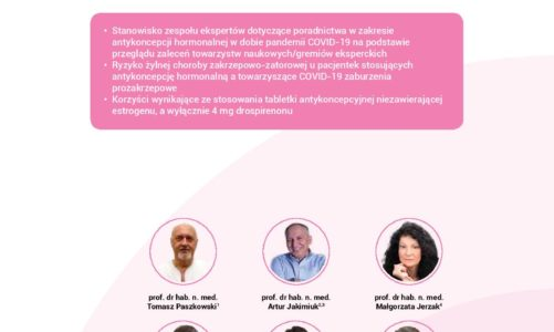 Pigułka hormonalna nie zawierająca estrogenu bezpieczną formą antykoncepcji w dobie SARS-CoV-2. Antykoncepcja w czasach pandemii