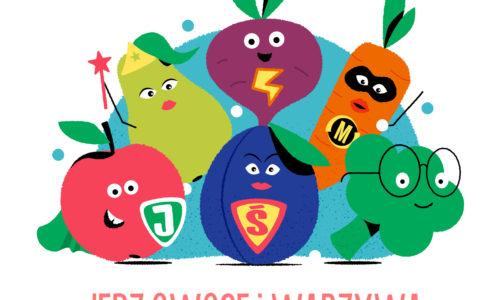 """Połowa sukcesu znajduje się na talerzu! Rusza II edycja kampanii """"Jedz Owoce i Warzywa – w nich największa moc się skrywa"""""""