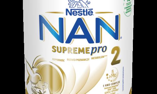 NOWE NAN SUPREMEPRO 2 z kompleksem 5 HMO dla wsparcia odporności** i zdrowego rozwoju dziecka.
