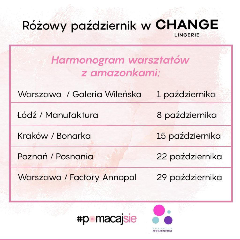 Różowy październik w CHANGE Lingerie – odwiedź salon i naucz się prawidłowego samobadania piersi